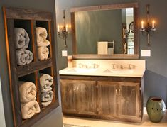 Classy vintage bathroom vanity designs ideas using wood Marble Antique Wood Vanity And Towel Organizer Homebnc 36 Best Farmhouse Bathroom Design And Decor Ideas For 2019 Floating Shelves Bathroom, Rustic Floating Shelves, Wood Bathroom, Bathroom Storage, Bathroom Ideas, Bathroom Vanities, Bathroom Designs, Master Bathroom, Bathroom Remodeling
