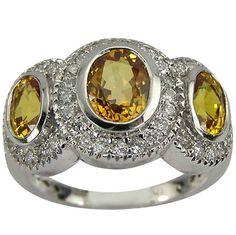 antique yellow sapphire