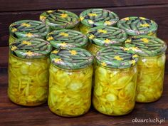 Najlepsza sałatka teściowej na zimą Edible Food, Canning Recipes, Pickles, Mason Jars, Clean Eating, Food And Drink, Preserves, Healthy Recipes, Baking