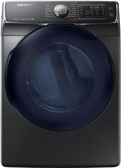 "Samsung Appliance DV45K6500EV 27"" Black Stainless Steel Series Electric Dryer with 7.5 cu. ft. Capacity, 14 Dry Cycles, 5 Temperature Settings, Steam Cycle, Energy Star Certified, Eco Dry, SensorDry Moisture Sensor, VentSensor, Multi-Steam Technology, SmartCare, Drum Lighting in Black Stainless Steel 