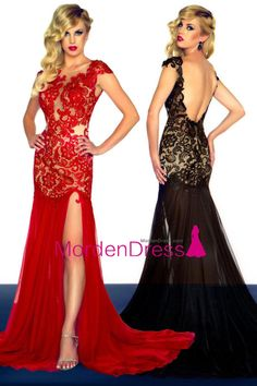 Red Prom Dresses 2015 Sheath Open Back Sweep/Brush Train Chiffon Cheap Homecoming Dresses, Prom Dresses 2015, Backless Prom Dresses, Grad Dresses, Mermaid Prom Dresses, Evening Dresses, Bridesmaid Dresses, Dress Prom, Prom Gowns