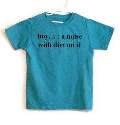 Size 10-12 Screenprinted Childrens Tee Shirt Boy Definition Text Teal Blue Heather Shirt Black Ink