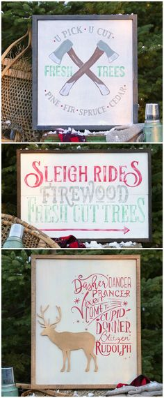 How For Making Candles In Your House - Solitary Interest Or Relatives Affair Free Silhouette Cut File Christmas Trio-Perfect For Painted Signs Holiday Signs, Christmas Signs, Christmas Projects, Winter Christmas, Holiday Crafts, Christmas Decorations, Christmas Ideas, Vintage Christmas, Merry Christmas