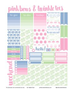 FREE Swirls & Twirls Planner Stickers by Pinkbow & Twinkle toes