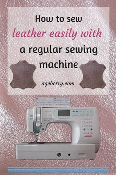 This is the first part of my step-by-step tutorial on how to sew leather with a domestic sewing machine. Start sewing leather with confidence.#sewing #sewingtip #sewingtutorial #sewinginspiration