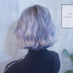 Ideas Hair Pastel Short Blue Source by . Hair Color Purple, Hair Dye Colors, Periwinkle Hair, Coiffure Hair, Coloured Hair, Aesthetic Hair, Dye My Hair, Grunge Hair, Hair Looks