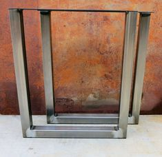Check out this item in my Etsy shop https://www.etsy.com/listing/220564335/u-shape-metal-table-legs-2x2