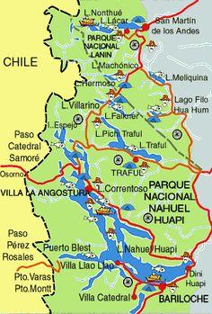 Villa La Angostura. Ruta de los siete lagos. Argentina Patagonia, Tourist Map, Travel 2017, Vivien Leigh, Ushuaia, Trips, Destinations, Wanderlust, Zoology
