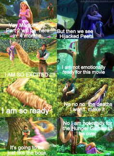 My Hunger Games version of this Tangled moment for Mockingjay Hunger Games Memes, Divergent Hunger Games, Hunger Games Cast, Hunger Games Fandom, Hunger Games Catching Fire, Hunger Games Trilogy, Walt Disney, Disney Magic, Tribute Von Panem