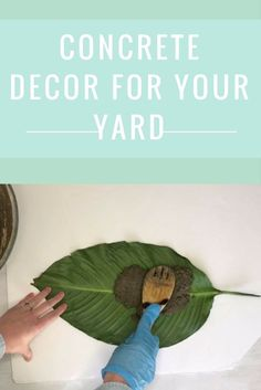 DIY monstera leaf stepping stones for the garden. You won't believe how simple they are to make using a giant plant leaf of your choice How to make stepping stones for your garden