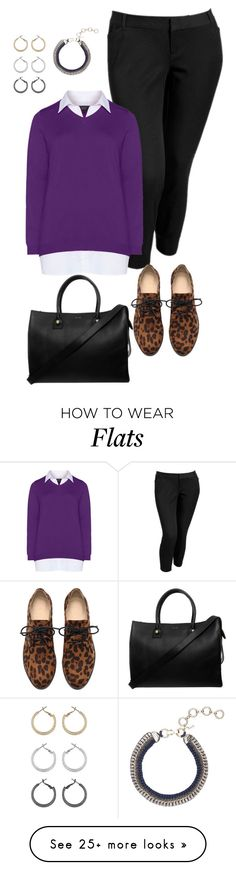 """""""plus size all about the flats/working it"""" by kristie-payne on Polyvore featuring moda, Old Navy, Paul & Joe, Topshop e Zhenzi"""
