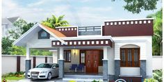 1 Floor House Plans Inspirational Home Plan Of Small House Kerala Home Design and Floor Plans Single Floor House Design, Green House Design, Home Design Floor Plans, House Front Design, Small House Design, Roof Design, Modern House Design, House Floor Plans, Facade Design