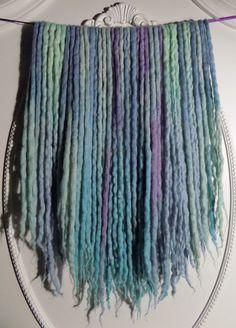 "40DE Pastel UV Wool Dreads 18""-24"" (Total Length = 36""-48"") Pastel Blue, Lilac, Aqua, & Periwinkle Dreadlocks"