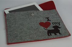 Do you love your #dog? Show your love with this #custom #embroidered tablet case! By #WickedStitchesGifts