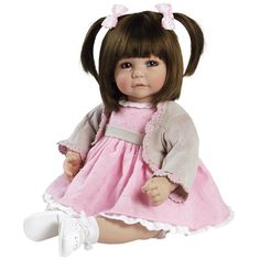 """Adora Toddler Cuddly Weighted 20"""" Play Doll- Sweet Cheeks with Brown Hair Bl #Adora #Dolls"""