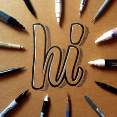 hand lettering on kraft paper 2 by  James Lewis /  Ligature Collective                                                                                                                                                                                 More