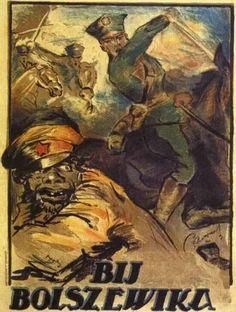 Wojna Polsko-Sowiecka 1920 (Polski plakat propagandowy z 1920)