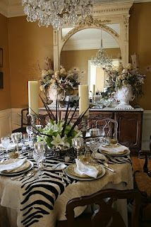 Romancing the Home  Love the Zebra accent!