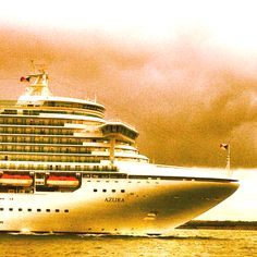 "P Cruises' ""Azura"" sailing out of Southampton, destination Stavanger, Norway."