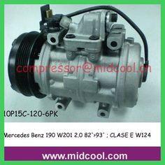 Brandnew 10P15C AUTO AC compressor for Mercedes Benz 190 W201 2.0 82'>93' ; CLASE E W124 93'>95'(A0002302411 ; 0001323880)
