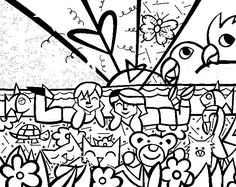 Desenhos-para-colorir-do-Romero-Britto-Dibujos-ideia-criativa+(2).jpg (693×550)