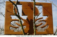 Diálogos. Madera de Caoba. 54,5 x 37,5 x 4 cm