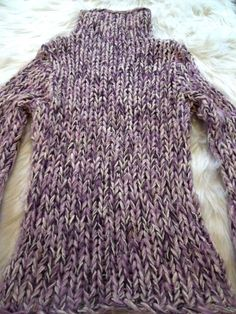 #Guess #Crochet #Yarn #Sweater #Pullover #Cableknit #Woven #Purple #WomensFashion