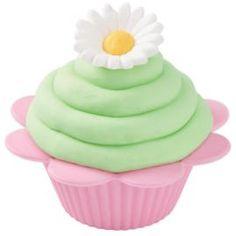 As pretty as a daisy and just as sweet to eat, this flower-shaped cupcake is perfect for Easter or any springtime celebration. Daisy Royal Icing Decorations top off the cupcake.