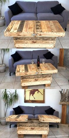 Attractive Diy Wood Pallets Table Ideas Pallet Wall Decor, Wooden Pallet Projects, Pallet Crafts, Wooden Pallets, Pallet Wood, Pallette Furniture, Pallet Furniture Plans, Cool Furniture, Furniture Ideas