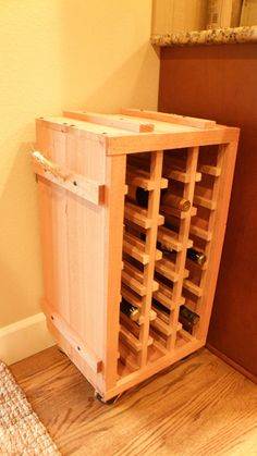 Hey, I found this really awesome Etsy listing at https://www.etsy.com/listing/167855011/21-bottle-standing-cedar-wine-rack