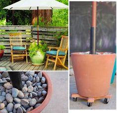 DIY Rolling Patio Umbrella Base