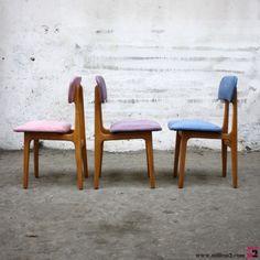 Chaise vintage des années 60 pastel - Mille m2