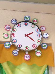 #reloj #preescolar Clock, Teaching, Education, Montessori Activities, Learning, Creativity, Preschool Education, Index Cards, Classroom