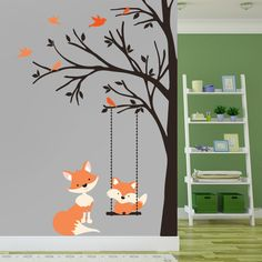 Corner Trees Wall Decal Forest Nursery Forests Trees And Decor - Nursery wall decals gender neutral