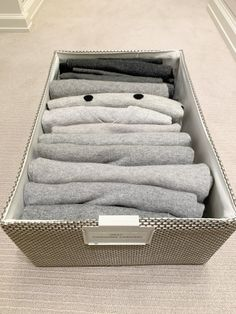 Closet Organization File-folded Sweaters How Baby Monitors Work One of the favorite things for paren Master Bedroom Closet, File Organization, Walk In Closet, Cool Words, Rattan, Sweet Home, Towel, Organize, Sweaters
