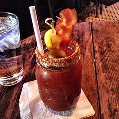 Because bacon makes everything better, the Bacon Bloody Mary.