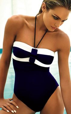 Zeki 2012: Valentina One Piece Bathing Suit Bandeau One Piece