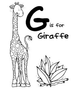 G Is For Giraffe Coloring Pages from Animal Coloring Pages category. Printable coloring images for kids you could print out and color. Check out our selection and printing the coloring images for free. Zoo Animal Coloring Pages, Love Coloring Pages, Mandala Coloring Pages, Coloring Pages For Kids, Coloring Books, Free Coloring, Coloring Letters, Alphabet Coloring Pages, Giraffe Colors