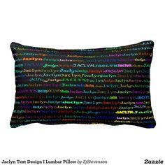 Jaclyn Text Design I Lumbar Pillow