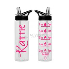 This water bottle is the perfect way to drink your water in style and not mix your drink up with someone else! These 24 oz. tritan water