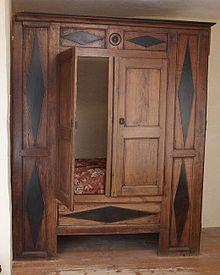 Alcove Bed, Bed Nook, Enclosed Bed, Bed Design, House Design, Medieval Furniture, Antique Furniture, Bedsit, Built In Bed