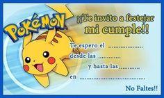 invitaciones de pokemon para imprimir 2