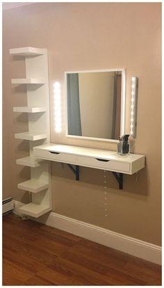 Most Popular Makeup Vanity Table Designs #roomideas #makeupvanitytable #makeuptable ~ vidur.net