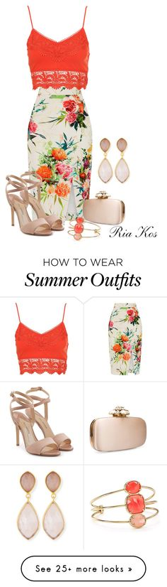 """sexy summer outfit"" by ria-kos on Polyvore featuring Oasis, Paul Andrew, Oscar de la Renta, Kate Spade and Dina Mackney"