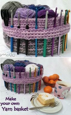 You are going to love this collection of crochet storage baskets free patterns and there is something for everyone. Crochet Basket Pattern, Crotchet Patterns, Crochet Baskets, Crochet Bags, Crochet Stitches, Dishcloth Crochet, Crochet Gifts, Crochet Ideas, Knitting Patterns
