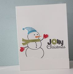 Heather's snowman card