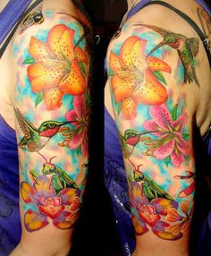 Hummingbird is a small cute bird with affinity for flowers and sweet life. Hummingbird Tattoo Designs is a hot topic for US girls. Tiny Hummingbird tattoo on neck andback looks awesome and get more attention then any other part of body. Well some of the following images of hummingbird tattoos might be interesting for you. Because they are latest designs ideas for women. They may also be for men depending upon style. Humming bird tattoo drawing could be done with watercolor, ink, or any