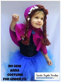 No Sew Anna Costume for under $12 #halloween #frozen