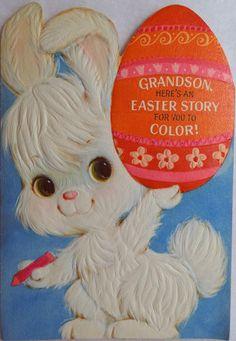 Vintage 1971 Easter Card