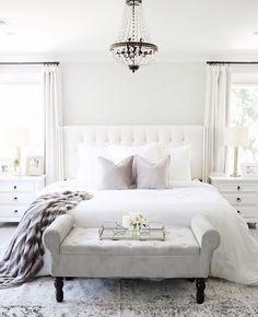 14 Cool White Bedroom Design Ideas Whitebedroom White Bedroom Black White Bedroom White Simple Bedr White Bedroom Design Luxurious Bedrooms Bedroom Interior